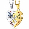 Best Friends Split Heart Necklace, with Personalisation, Sharing