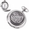 Never Ending Celtic Knot Pewter Quartz Pocket Watch (can be personalised)