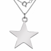 Star Shaped Sterling Silver Necklace (can be personalised)