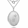 St Christopher Locket, Personalised / Engraved Real Diamond & Sterling Silver