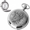 St Christopher Pocket Watch, with Personalised Engraving, Quartz/Battery