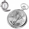 Stag Pewter Quartz Pocket Watch (can be personalised)