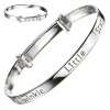 Twinkle Little Star Babies Bangle, Personalised, D for Diamond, Sterling Silver