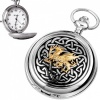 Welsh Dragon Pocket Watch with Personalised Engraving, Quartz