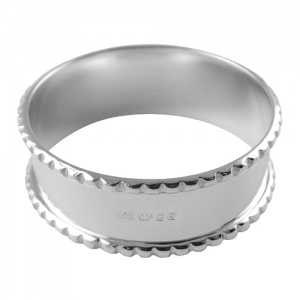 Gadroon Napkin Ring Hallmarked Sterling Silver (can be personalised)