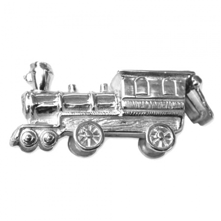 Train Tooth Box Sterling Silver Pill Box