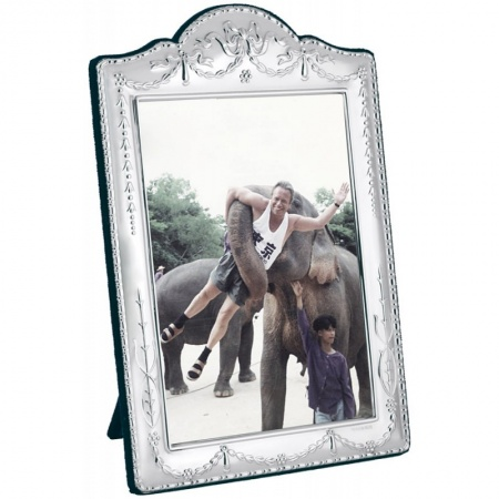 Victorian Style Photo Frame, Sterling Silver 6 x 9cm (2.5 x 3.5 inches)