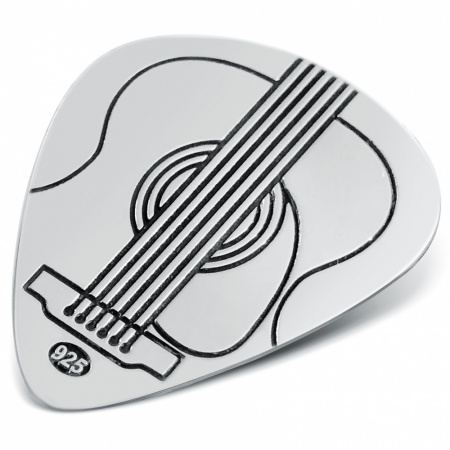 Acoustic Guitar Plectrum (Pick) Personalised, Sterling Silver