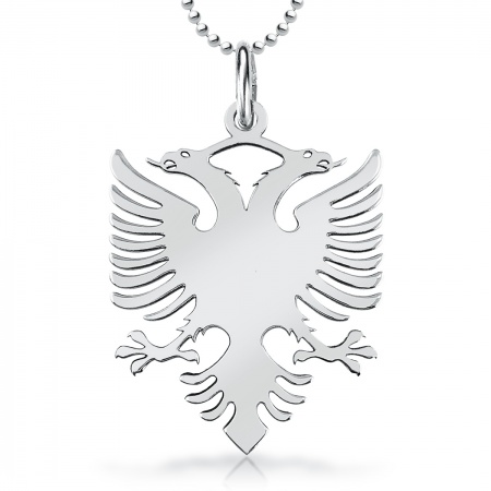 Albanian Eagle Necklace, Personalisation Available, Sterling Silver