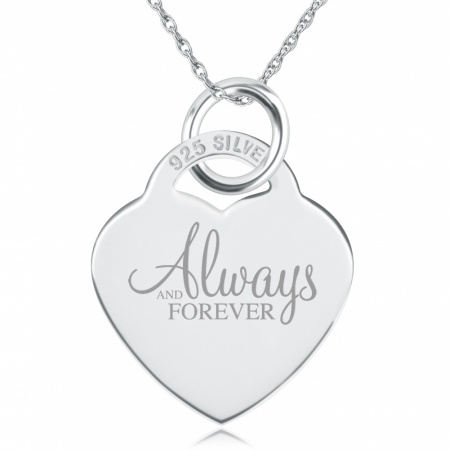 Always and Forever Necklace, Personalised, Sterling Silver