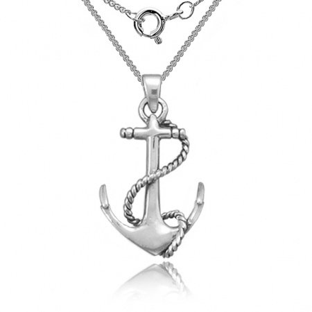 Anchor Necklace, 925 Sterling Silver