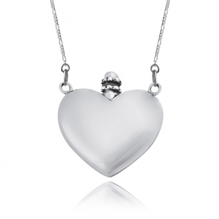 Ashes Memorial Urn Locket Necklace, 925 Sterling Silver (can be personalised)