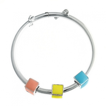 Babies Building Blocks Sterling Silver Bangle