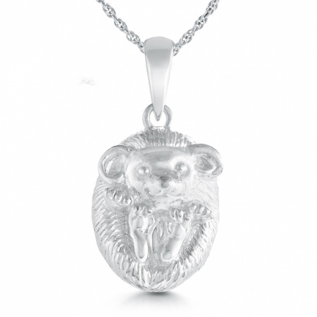 Baby Hedgehog Necklace, Sterling Silver