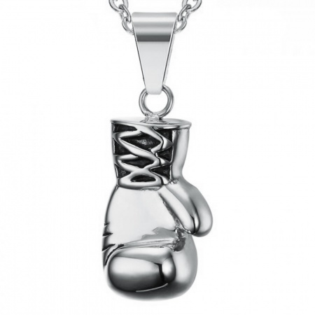 Boxing Glove Necklace, Personalised, Stainless Steel