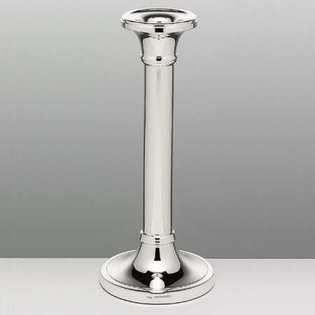 Contemporary Oxford Candlestick 207mm Large Hallmarked Sterling Silver