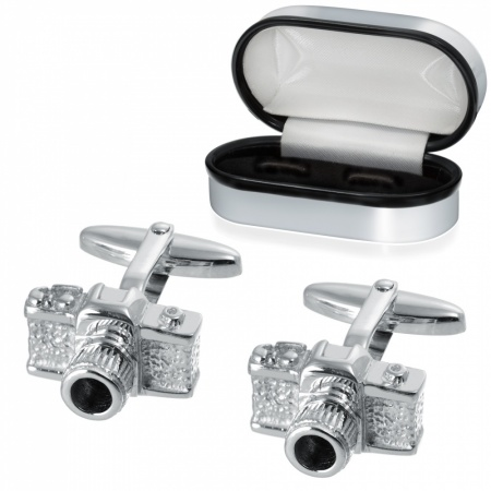Camera, Photography Cufflinks, 925 Sterling Silver, can be personalised