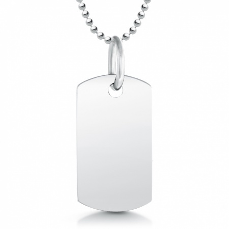 Childs Dog Tag, Personalised, Sterling Silver