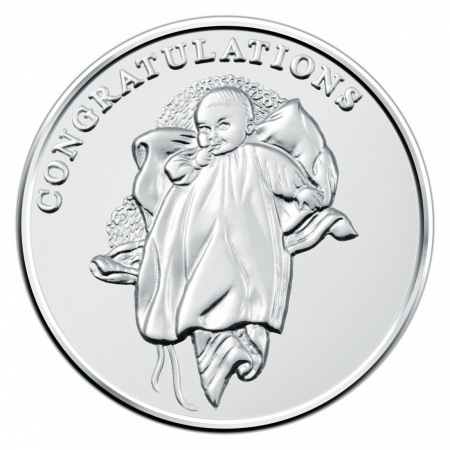 Christening Coin, 925 Sterling Silver, Personalised, Hallmarked