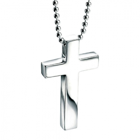 Cross Necklace, Personalised, Sterling Silver, Fred Bennett