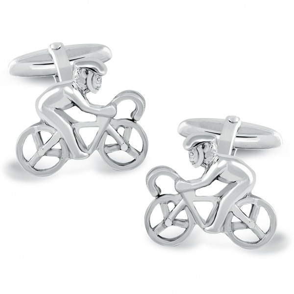 Cycling Cufflinks, 925 Sterling Silver, Can be Personalised