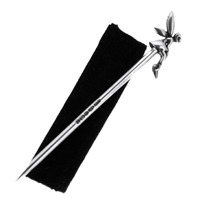 Fairy Toothpick, 925 Sterling Silver, Hallmarked