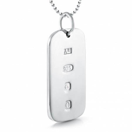 Feature Hallmark Sterling Silver Dog Tag (can be personalised)