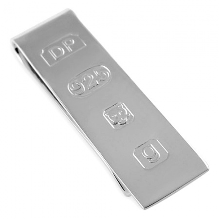 Feature Hallmark Money Clip, Personalised, Sterling Silver