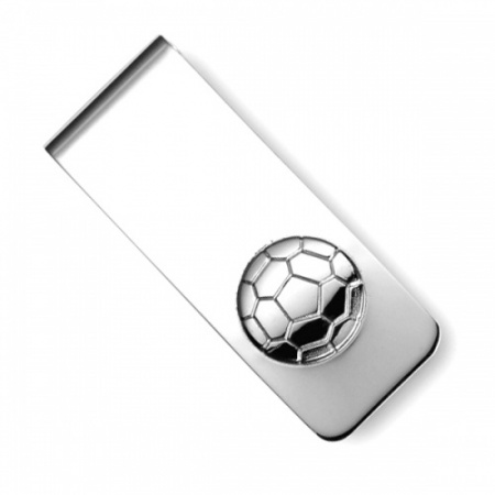 Football Sterling Silver Hallmarked Money Clip (can be personalised)