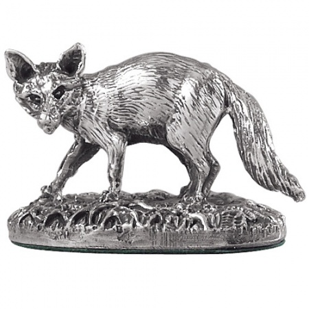 Fox Figurine Model, 925 Sterling Silver, Hallmarked