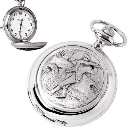 Golf Pewter Quartz Pocket Watch (can be personalised)