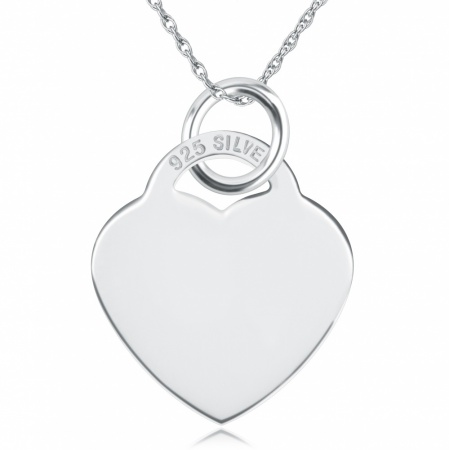 Small / Childs Heart Shaped Sterling Silver Necklace (can be personalised)