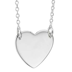 Heart Necklace, 925 Sterling Silver (can be personalised)