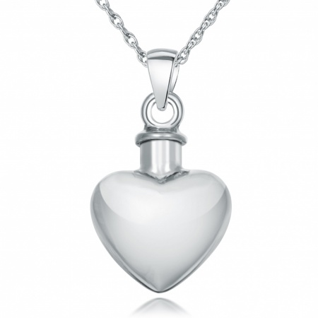 Ashes Urn Memorial Locket Necklace/Pendant, 925 Sterling Silver (can be personalised)