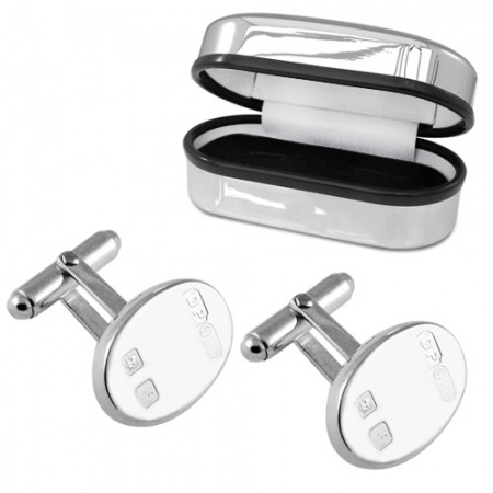 Feature Hallmark Heavyweight Sterling Silver Cufflinks (can be personalised)