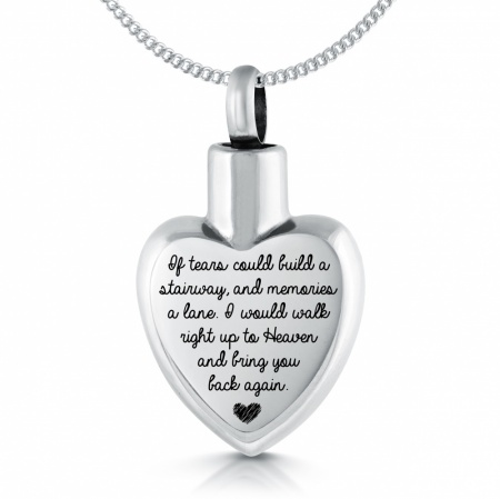 If Tears Could Build a Stairway Ashes Necklace, Personalised
