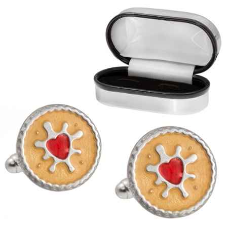 Jammy Dodge Biscuit Cufflinks, 925 Sterling Silver (can be personalised)