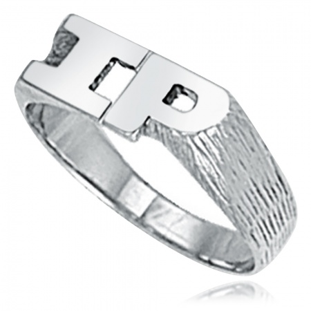 Ladies Initials Ring, Sterling Silver, Personalised