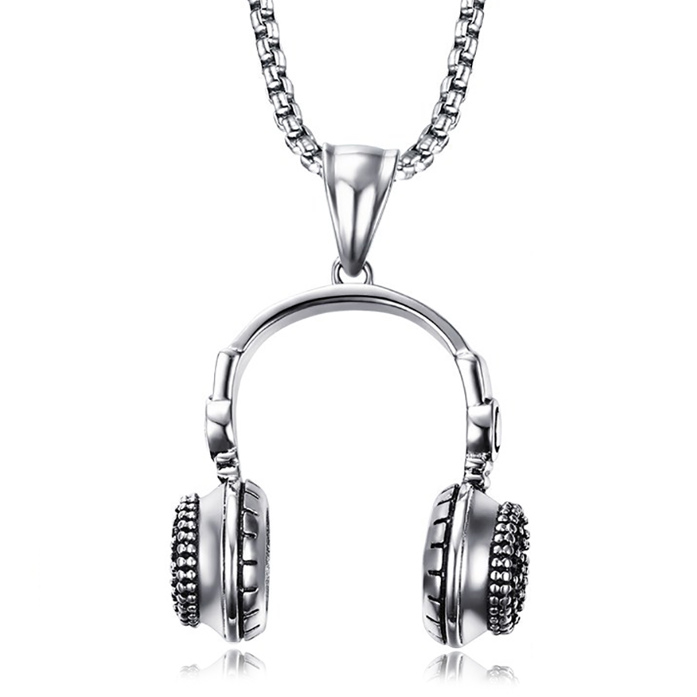 Large Headphones Necklace, DJ's and Music Lovers