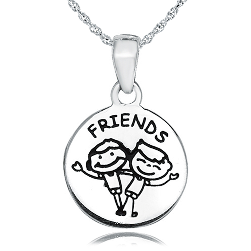 Children's Friends Necklace, Personalised, Sterling Silver