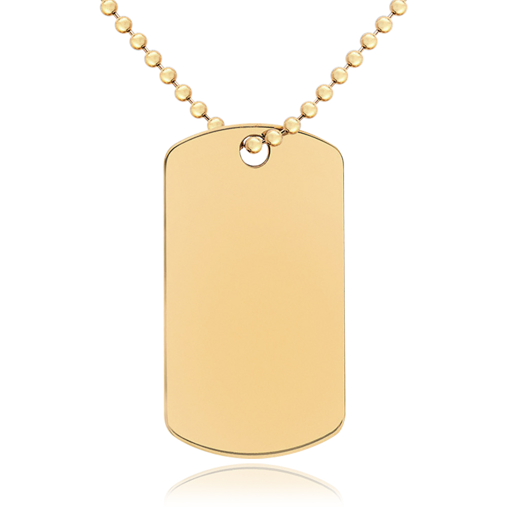9ct gold dog tag chain personalised engraved aloadofball Choice Image