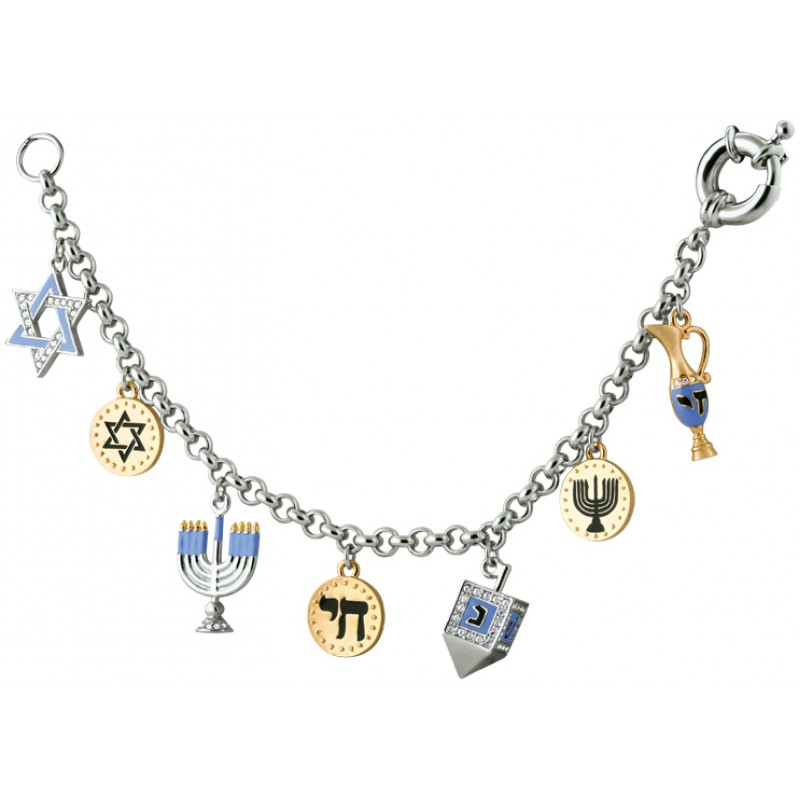 Chanukah Charm Bracelet, Jewish Themed