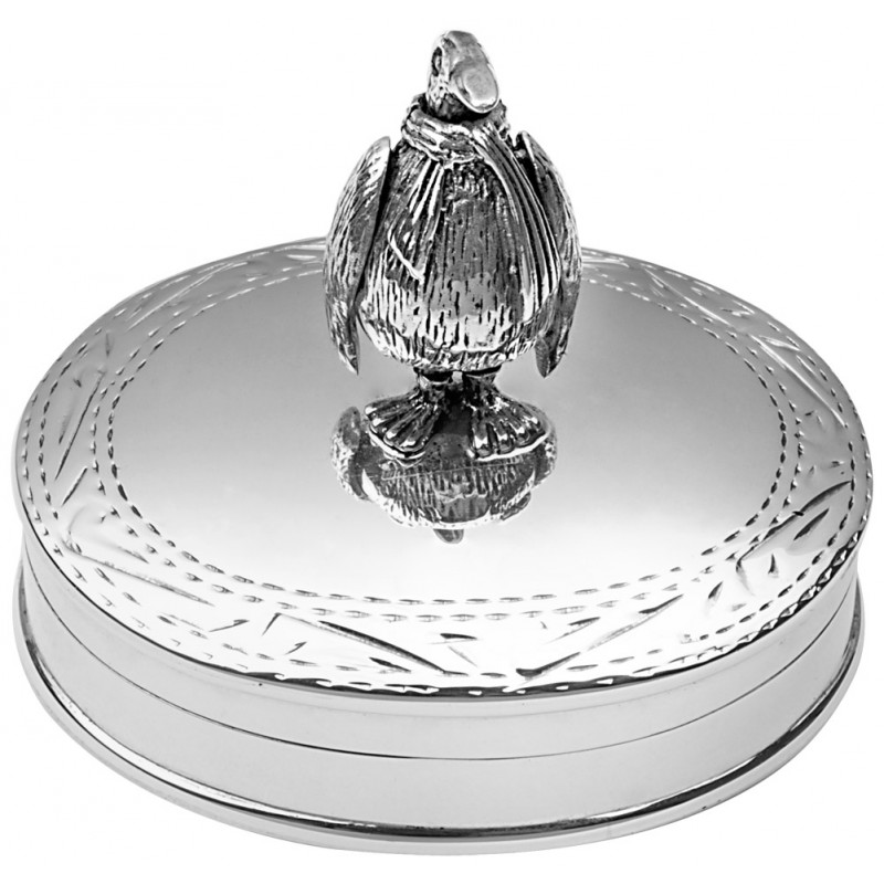 Movable Penguin Pill Box, Hallmarked Sterling Silver, Personalised