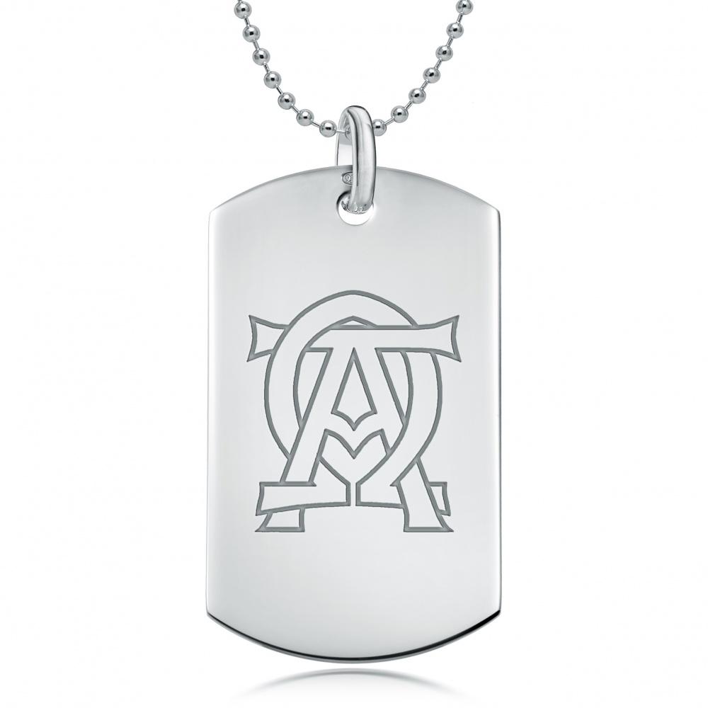 Alpha Omega Dog Tag Necklace, 925 Sterling Silver (can be personalised)