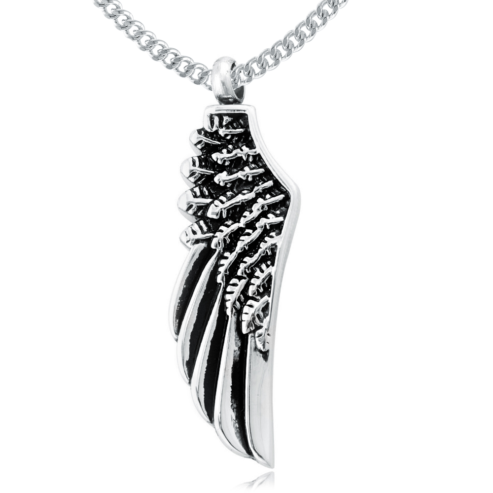 Angel Wing Necklace for Ashes, Personalised