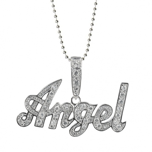 cindi necklace sterling silver word artiste product written rae wired wire in the dream