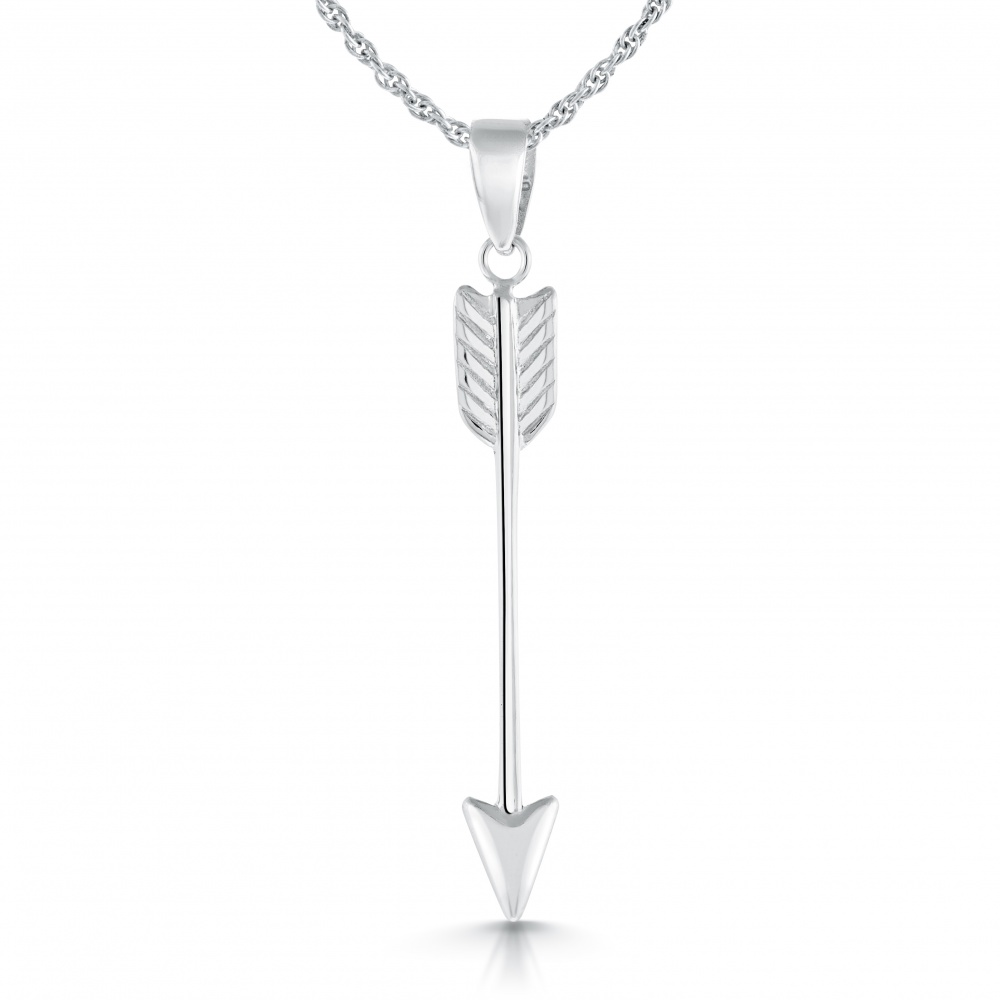 Arrow Necklace, Sterling Silver