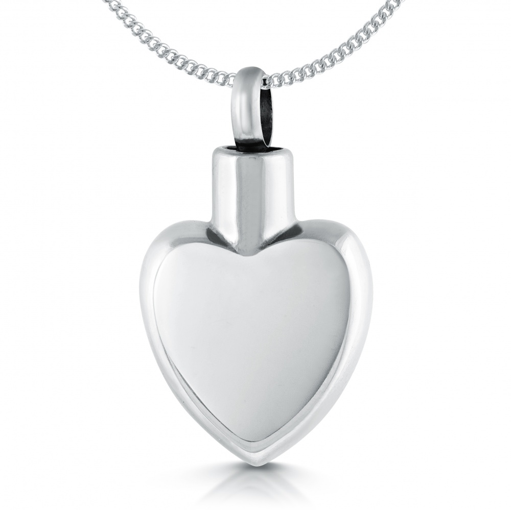 Ashes Memorial Locket Necklace, Stainless Steel (can be personalised)