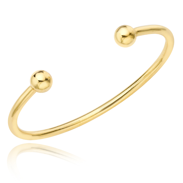 Babies Plain Torque Bangle 9ct Yellow Gold
