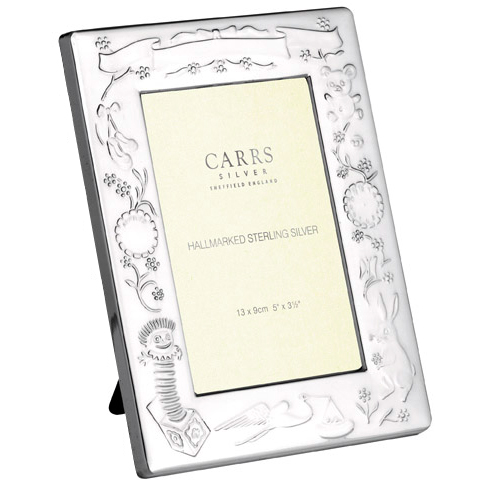 Carrs Children's Photo Frame, Hallmarked Sterling Silver (Engraving Available)